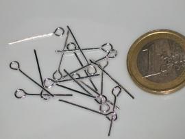 kettelstiften 20 mm zilver 100 stuks in een zakje