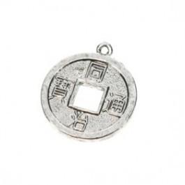 090774 Hanger munt (Antiek zilverkleur) 2 cm zware kwaltieit