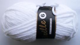 Chenille6, kleurnr 005 (wit), 100 gram
