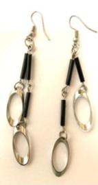 A4 Zwart/zilver afm. 8 cm