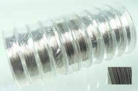 090816 Staaldraad met coating 0.38mm 1 rol ± 10 meter (Zilverkleur)