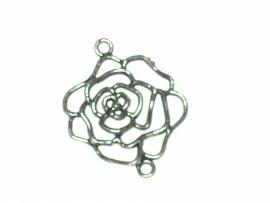 090259 Zilveren roos 5 cm tussenzetsel.