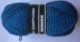 Bergen kleurnummer 081 blauw/zwart gemeleerd