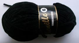 Chenille6, kleurnr 001 (zwart), 100 gram