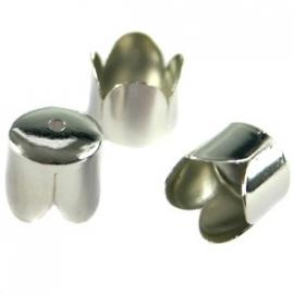 090657 Eindkap, ca. 8 mm (antiek zilverkleur)