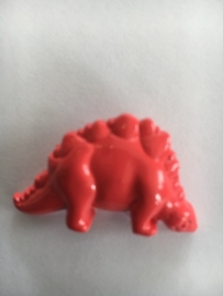 dino  rood afm 3/3 cm.  zakje per 6 stuks, nr.4