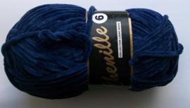 Chenille6, kleurnr 890 (blauw), 100 gram