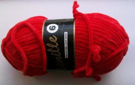 Chenille6, kleurnr 043 (rood), 100 gram