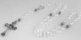 210238  Rozenkrans 8 mm transparante kristalkralen, topper!