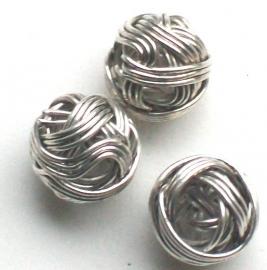 090989 Metalen kraal knoop 10 mm