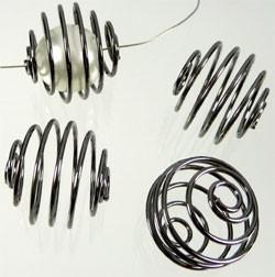 090313 Metaal spiraal 17mm (Black nickelcolour)