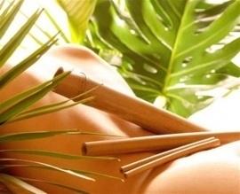 Bamboe massage stokken + reflexology stok (SET)