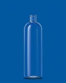 500 ml Glashelder PET fles (rond+ Klepdop)