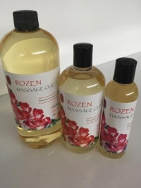 500 ml Rozen Massage olie + doseer pomp