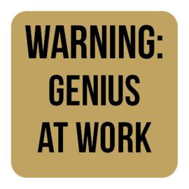 A021 | Warning: Genuis...