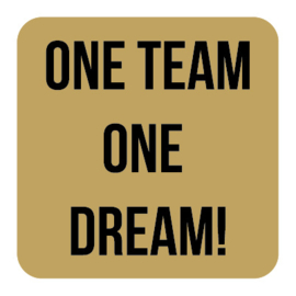 M022   One team, one dream!
