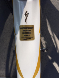 Tom Boonen QUOTE sticker