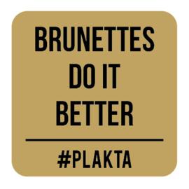 V013   Brunettes do it...