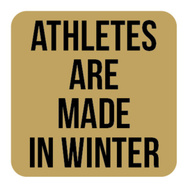 A013 | Athletes are...