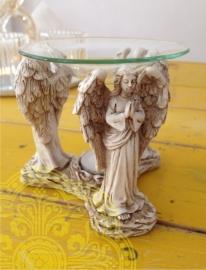 Glazen Geuroliebrander met 3 Engelen