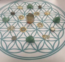 Crystal Grid Doek (Flower of Life, 40cm x 40cm)