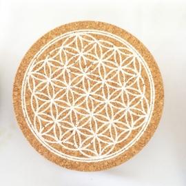 Crystal Grid - Kristallen Raster Flower of Life (Kurk)