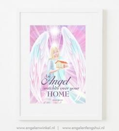 Engelen poster voor huisbescherming (A3)