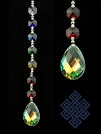 Feng Shui  Chakra Kristal Raamhanger (7 kleuren, glas, ovaal)