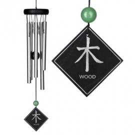 Feng Shui Windgong - Hout element met Aventurijn