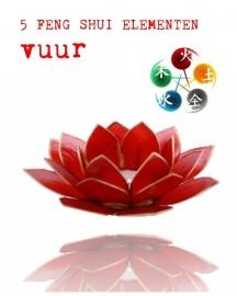 Lotus Bloem Sfeerlicht Element Vuur (rood)