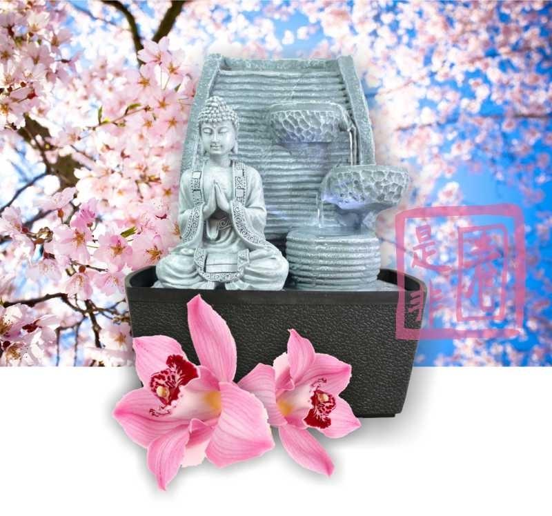 Zimmerbrunnen Hua Lotus (Liebe, Gesundheit, Reichtum und Ruhe)