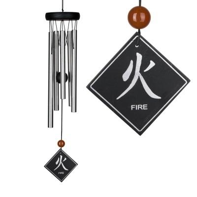 Feng Shui Windgong - Vuur element met Carneool