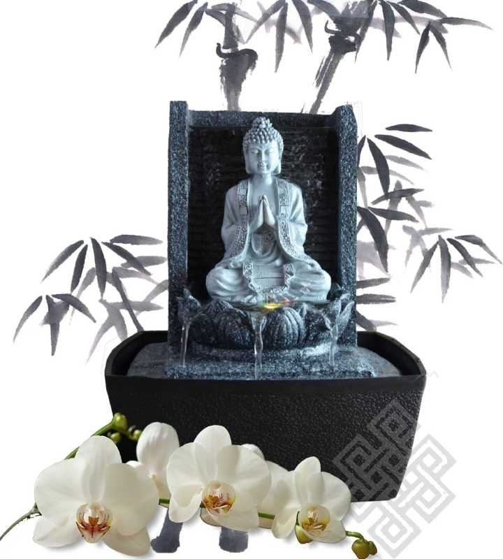 Boeddhabeeld Met Fontein.Fonteinen Voor Binnen Feng Shui Webwinkel