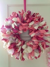 Ballonnenkrans roze