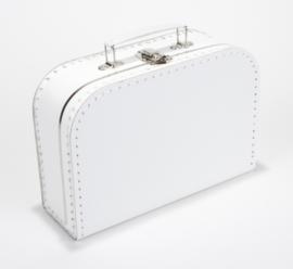 Koffertje met naam wit