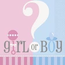 baby shower servetten boy girl?