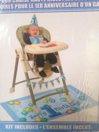 1e verjaardag Kinderstoel versierset  jongen