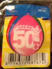 ballonnen juigende sarah 50