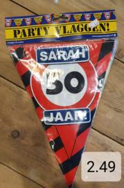 Vlaglijn Sarah waarschuwing