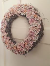 Deurkrans flowers pink