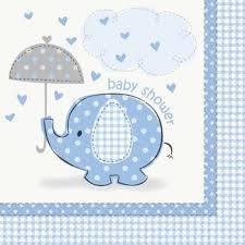servetten baby shower bleu
