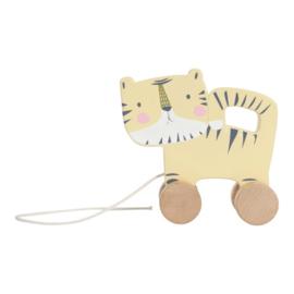 houten trekdier tijger