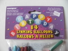 linking balloons happy birthday