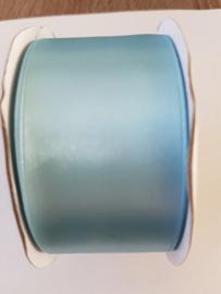 Satijn lint licht blauw 38mm 25 meter