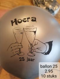 ballonnen zilver 25