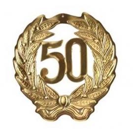 hulde schild goud 50