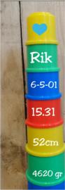 Stapeltoren  lengte