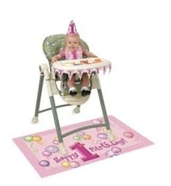1ste verjaardag kinderstoel set meisje