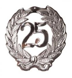 hulde schild zilver 25