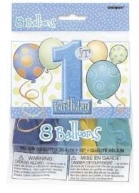 1st birthday ballonnen serie baloons jongen